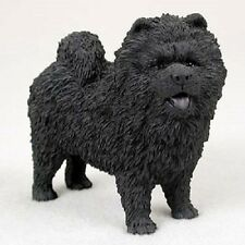 CHOW CHOW Dog HAND PAINTED FIGURINE resin Statue COLLECTIBLE Black Puppy NEW