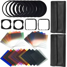 44 in1 Graduated Full Color ND Filter Set 49 52 58 62 77 Adapter For Cokin P UK