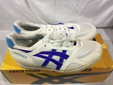 Nib Vintage Men's Asics Tiger Harrier Track Field Running Shoes White Blue 7.5