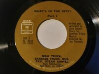 Steve Sahlein - What's In The City? VG+ Original 45 Columbia Record Sound Effect