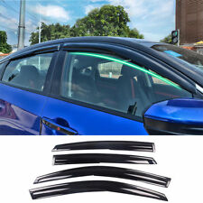 Window Visor Vent Shades Sun Rain Guard For Honda Civic 4dr Sedan 2016 2017 4pcs