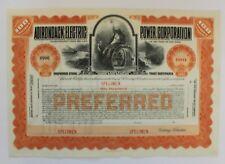ADIRONDACK ELECTRIC POWER CORPORATION - New York - Specimen ca.1920s - 2 pieces