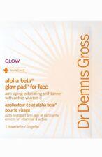 NIB Dr. Dennis Gross Skincare Alpha Beta Glow Pads for face 5 presoaked pads