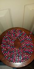 Antique 3/8 Mercury Glass Multi-Color Feather Tree Garland Christmas 140� approx