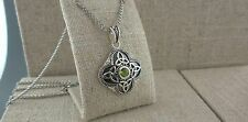 Sterling Silver Trinity Knot Pendant with Peridot Made in Ireland by Shanore