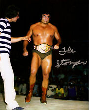 The Mongolian Stomper signed 8x10 color wrestling photo (d.2016) Archie Gouldie