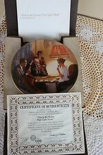Knowles Plate - Rockwell's Light Campaign.the Room That Light Made - Coa & Box