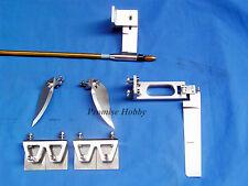 "Rudder strut trim tabs turn fins & 1/4"" cable shaft combo for large rc boat"
