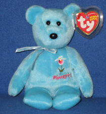 TY MINNESOTA LADY'S SLIPPER the BEAR BEANIE BABY - MINT with MINT TAGS