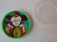 Vintage Round Cowboy Puzzle Ball Game Toy Party Prize Beads Hong Kong Retro