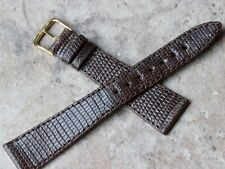 Short highly tapered & unpadded Real Lizard 19mm vintage watch band Tourneau NY