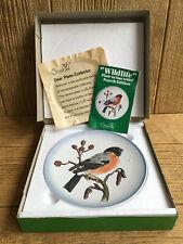 Vintage 1977 Goebel West Germany Wildlife Plate BullFinch Bird # 4 Ed New in Box