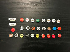 Wunderbar Soda Gun Button Caps, Various, Bargun Caps, Flavor Labels
