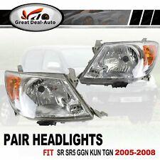 for Toyota Hilux SR SR5 Workmate GGN KUN TGN 2005-2008 HeadLights (1 Pair)