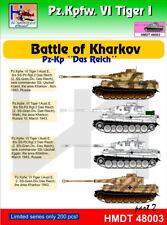 "H-Modelo Decals 1/48 pz. Kpfw. VI Tiger I batalla de Kharkov pz-KP ""Das Reich"" parte"