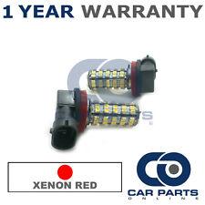 2x XENON rosso Upgrade H8 60 LED SMD Fendinebbia LAMPADINE PER FORD C-MAX