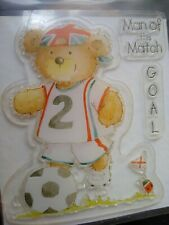 Man Of The Match Football Bear Clear Stamp