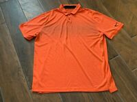 Nike Golf Dri Fit Standard Fit Orange Stretch Golfing Casual Polo - Size XL