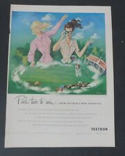 Original Print Ad 1948 TEXTRON Hostess Coats Siebel Art Vintage Horse Race
