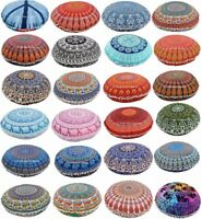 "Indian Mandala Cushion Cover Bohemian Round 32"" Throw Large Floor Pillow Case"