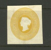 Mauritius 50c Yellow 1860's Rarer Classic High Value Stamp From Early Collection