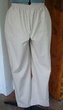 Blair 14 Khaki Pull on Elastic Waist Scrubs Pants Side Pockets 55% Cot 45% Poly