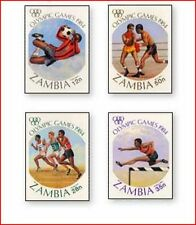 ZAM9401 Los Angeles Olympics 4 stamps