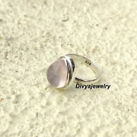 Rose Quartz Ring Solid 925 Sterling Silver Band Ring Statement Ring Size sr913