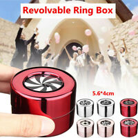 Jewelry Earring Ring Box Revolvable Stainless Steel Marriage Proposal
