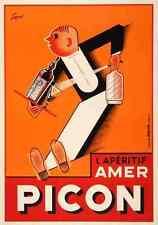 Metal Sign Amer Picon Waiter Sepo Swiss Liqueur Bar 1930S A4 12x8 Aluminium