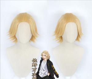 Anime Tokyo Revengers Manjiro Sano Copslay Wigs Light Gold Heat Resistant Hair