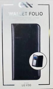 Case Mate Wallet Folio Genuine Leather Wallet Case For LG V30 #644