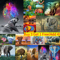 Elephant & Swan Full Drill DIY 5D Diamond Embroidery Painting Craft Stitch Home