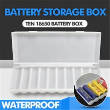 us 10X18650 Battery Holder Case Storage Box White PP  Holder Container