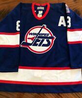 NewWT 100% Authentic Pro 52 Selanne Winnipeg Jets Center Ice CCM Ultrafil Jersey