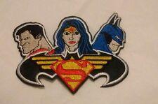 DC Comics Superman Batman Wonder Woman Iron On Patch