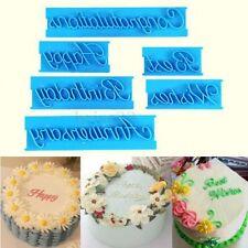 6Pcs Letter Fondant Cake Cutter Mold Decorating Icing Mould Sugarcraft Tool