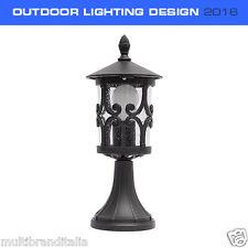 LAMPIONCINO PORTALAMPADA DESIGN LED E27 PER ESTERNO IP44 max 60W NERO