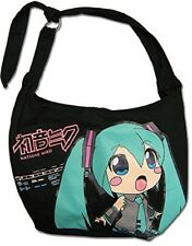 *NEW* Vocaloid: Hatsune Miku Face Up Black Hobo Bag by GE Animation
