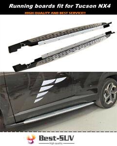 Fit for Hyundai 4TH Tucson NX4 2021 2022 Side Step Pedal Running Board Nerf Bar
