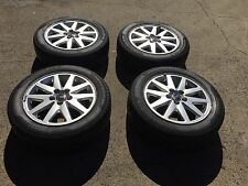 4 X GENUINE VOLVO WHEELS,ALLOY RIMS AND TYRE 205 55 16,PCD 5 X 108,S40,C30,V50,