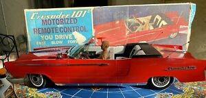 Box Vintage 1964 Deluxe Reading Crusader 101 Huge RC Remote Control Toy Car RED