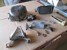 84 Suzuki RM250 Swing Arm Hinge System Crankcase Cover Radiator lever Parts Lot
