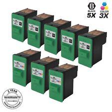 8pk for Lexmark 17 27 Black & Color Ink Cartridge 10N0217 10N0227 X1290 X1240