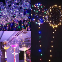 "Luxury RGB Color LED String Light With Clear Helium Balloons 18"" Christmas Decor"