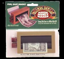 Magic Money Maker Illusion Gimmic Trick Plain Paper Changes Into Any Dollar Bill