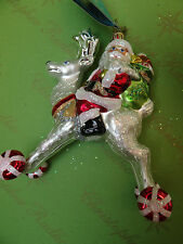 Christopher Radko Hi Ho Blitzen Glass Ornament