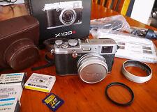 Fab Condition Fuji X100S 16 MP Camera - 32GB SD, Hood, 4 batts, ER Case, Filter