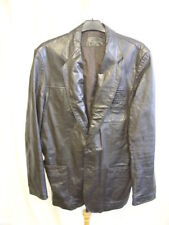 Unbranded Leather Button Blazers Coats & Jackets for Men