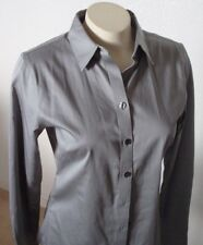New Banana Republic 2 Gray Fitted Blouse Shirt Button Down Long Sleeve Non Iron